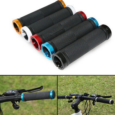 Double Lock On BMX MTB Bike Grips Coloured Bicycle Scooter Handle Bar Cycle UK • 3.59£