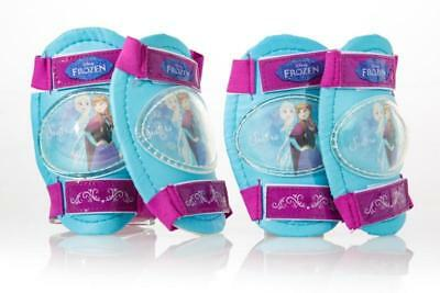 Dino Disney Frozen Girls Blue Bike Cycling Safety Knee And Elbow Pads Set PROFZ • 22.98£
