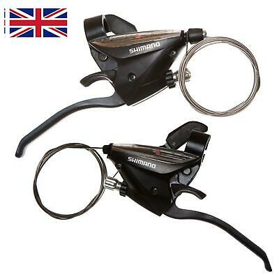 New Shimano ST-EF51 GEAR Shifter/Brake Lever 3 X 7,8 Speed Or Set Black V-Brake • 8.99£