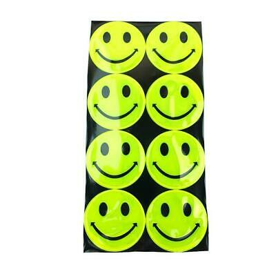 Hi Vis Reflective Stickers Smiley Face Outdoor Cycle Children Safety • 3.99£