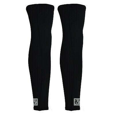Cycling Leg Warmers Thermo Black Windproof Cycle Winter Running • 12.95£