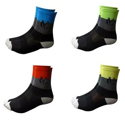 VC Deep Stripe Cycling Socks 3 Pack Size 6-11 Running Wicking Ankle Breathable • 9.95£