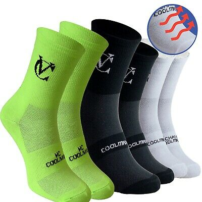 Coolmax Breathable Cycling Socks 3pack Mountain Bike Road Running Socks • 12.95£