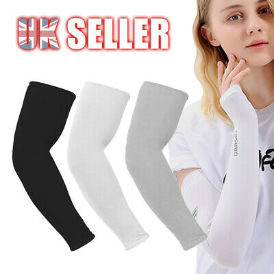 1 Pairs Cooling Sport Covers Sun UV Protection Cycling Stretch Sleeves Arm Golf • 2.85£