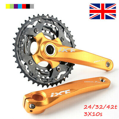 24/32/42t 104/64bcd Triple Speed MTB Bike Chainset 170mm Crank Set Chainring • 17.99£