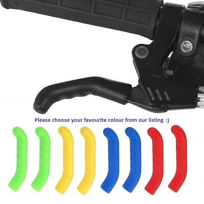 Silicone Coloured BRAKE LEVER GRIP MTB ,BMX Pair COVER PROTECTOR MOUNTAIN BIKE • 2.85£