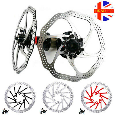 160/180/203mm Front Rear Rotor MTB Bicycle Brake Disc Rotors Stainless Steel UK • 9.69£