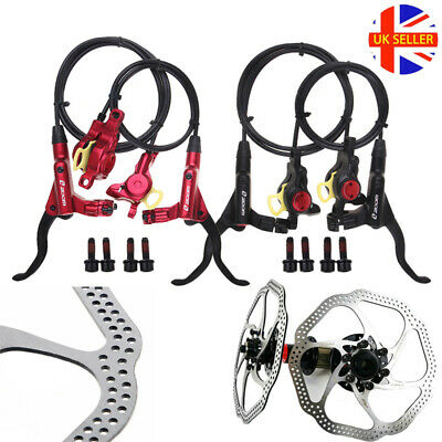 MTB Bike Front Rear Hydraulic Calipers Disc Brakes 160/180mm Disc Brake Rotors • 46.62£