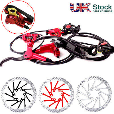 ZOOM MTB Bike Front Rear Hydraulic Disc Brake 160/180/203mm Brake Set Disc Rotor • 33.95£
