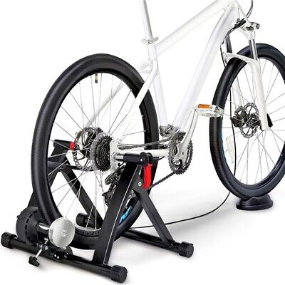 Foldable Magnetic Turbo Trainer Indoor Bike Cycling With 6 Cycle Gear Resistance • 76.99£