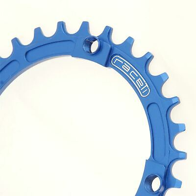 Chainring Narrow Wide Single Retainer Chain Ring 30T 104 BCD Blue CNC 7075 T6 • 14.99£