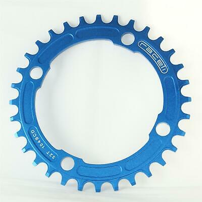 Chainring Narrow Wide Single Retainer Chain Ring 32T 104 BCD Blue CNC 7075 T6 • 14.99£
