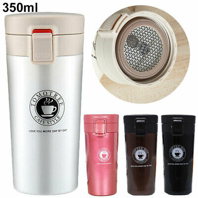 350-500ML Travel Coffee Mug Cup Thermal Stainless Steel Flask Vacuum Thermos UK • 8.99£