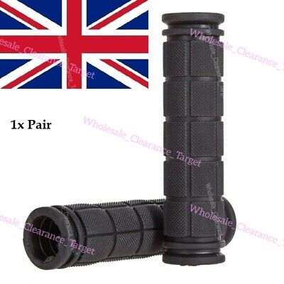 Hand Grips Bar Weatherproof Non-slip BLACK Soft Mountain Bicycle Scooter-MTB-BMX • 2.98£