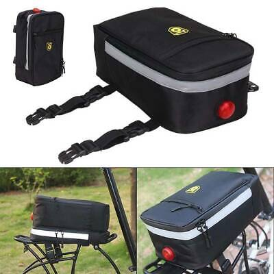 Bicycle Rear Bike Rack Pannier Trunk Tail Bag Cycling Carrier Bag Pouch Storage • 16.39£
