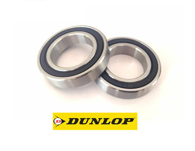 Pair Of Dunlop 61805-2rs (6805-2rs) Thin Section High Quality Bearings 25x37x7mm • 4.95£