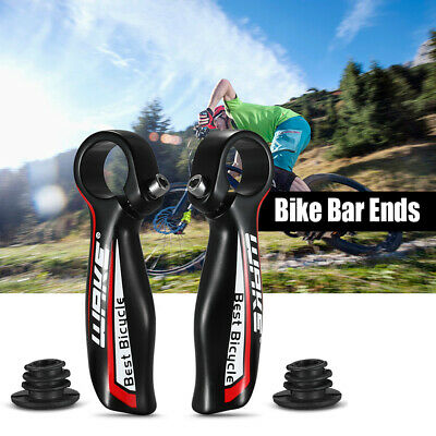 Pair Alumimun Alloy MTB Bar End Mountain Bike Handlebar End Bicycle UK • 8.49£