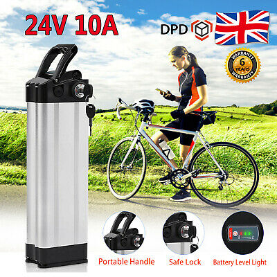 24V 10A E-Bike Battery Electric Bicycle Li-ion Pack Lockable With 2A Charger Set • 112.99£