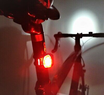 LED BIKE LIGHTS Red Rear, Waterproof, Universal Fit, For Road, MTB & All Cycles • 2.95£