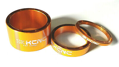 KCNC Hollow Design Headset Spacers Set Of 3 -  3/8/20mm Gold A10 • 8£
