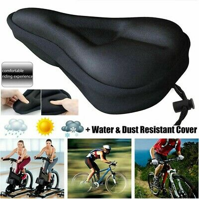 UK Bike Extra Comfort Soft Pad Comfy Cushion Saddle Seat Cover Bicycle Cycle • 6.29£
