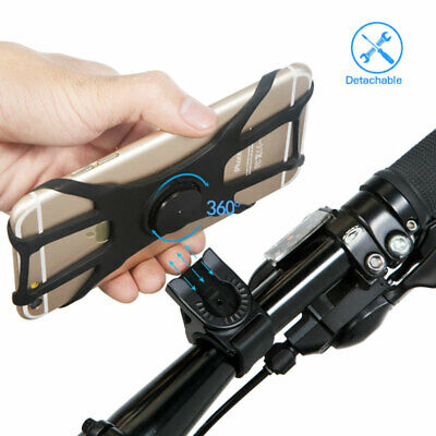 Universal Bike Phone Holder Cycling Handlebar Bicycle Mount 360 Degree Rotating • 6.89£
