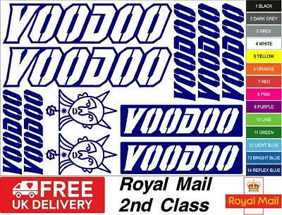 Voodoo Bikes S2 Decals, Stickers, Mtb. Cycling, Bmx, Car, Van • 5.50£