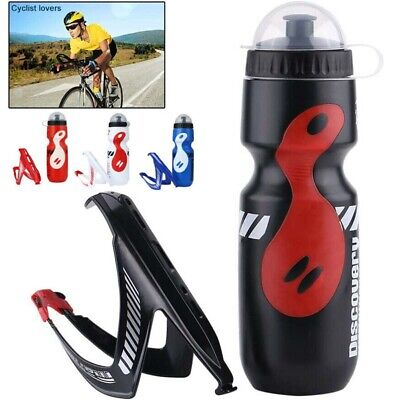 650ml Water Bottle+Holder Cage Rack Mountain Cycling Bike Bicycle Kit Exercise • 7.89£
