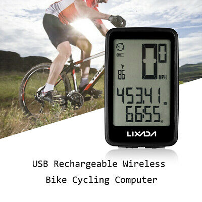 Rechargeable Wireless Bike Cycling Computer Bicycle Speedometer Odometer I7O1 • 12.99£