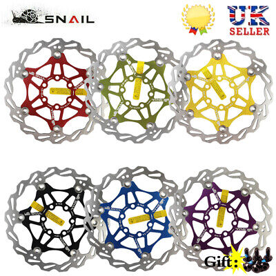 SNAIL MTB Bike Disc Brake Floating Rotor 160mm,180mm,203mm 6 Bolts Rotor Caliper • 16.35£