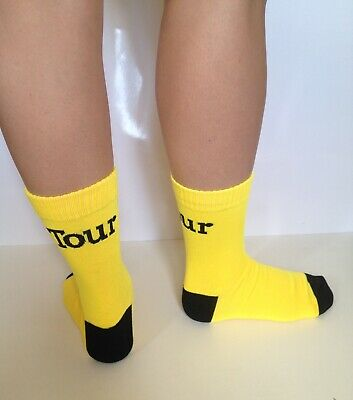 Official Tour De France Cycle Sock Yellow Tour Cycling Bike Brand New • 2.99£