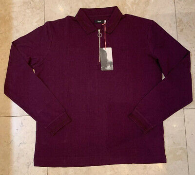 Rapha Long Sleeve Zip Polo Plum Large Brand New With Tag • 54£