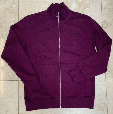 Rapha Logo Zip Up Track Top Plum Large Brand New With Tag • 69£