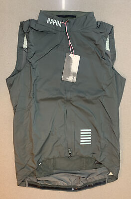 Rapha Pro Team Insulated Gilet Green Grey Size Medium Brand New With Tag • 134.50£