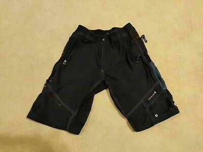 Endura MTB Outer Baggy Shorts Size Large Black And Blue • 7.90£