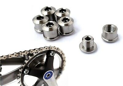 Titanium Chainring Bolts ~ Rust Proof ~ Single/Double/Triple Speed Crankset • 12.99£