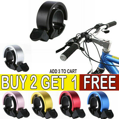 Bicycle Bell Aluminum Alloy Bike Bell MTB Handlebar Alarm Ring Invisible Bell*LE • 3.75£