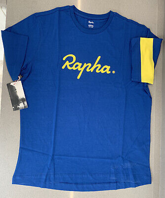 Rapha Yorkshire T-Shirt Blue Size Large 100% Cotton Brand New With Tag  • 29.50£