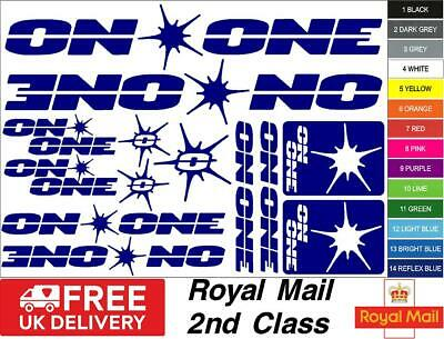 ON ONE Bikes S2 Decals, Stickers, Mtb. Cycling, Bmx, Car, Van • 5.50£