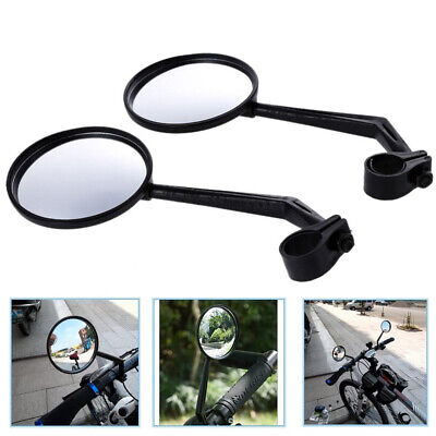 1Pair Wide Rear View Rearview Convex Mirror Cycling Bike Bicycle Handlebar Safe • 5.49£