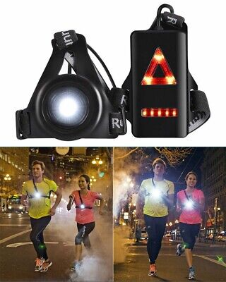 Running Light LED USB Rechargeable Body Torch Waterproof Safety Lamp W/Taillight • 9.99£