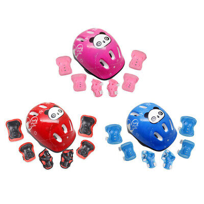 7Pcs/Set Boys & Girls Kids Skate Cycling Bike Safety Helmet Knee Elbow Pad LE • 8.99£