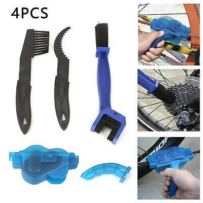 4pcs Bicycle Chain Wheel Cleaner Tool Bike Maintenance Cleaning Brushes Scrubber • 4.59£