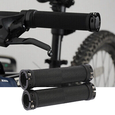 Mtb Cycle Bicycle Mountain Bike Handle Bar Grips 2pcs Double Lock On Locking • 4.99£