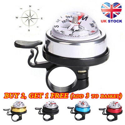 New Accessory Road Bike Handlebar Cycling Ring Compass Bicycle Bell • 3.26£