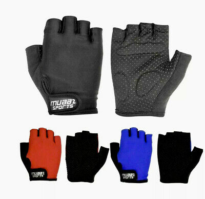 Half Finger Cycling Gloves Bike Bicycle Gel Padded Fingerless Cycle Gloves • 6.49£