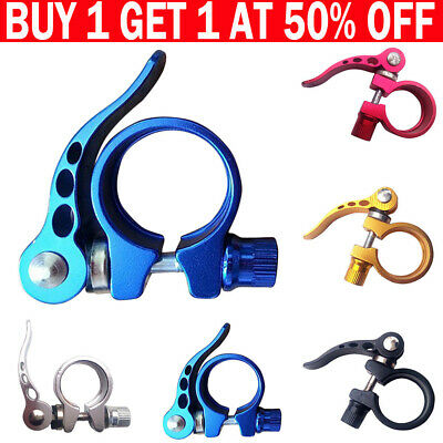 Bike Bicycle BMX MTB Quick Release Seat Post Anodised Alloy Clamp 34.9 Mm LE • 3.85£