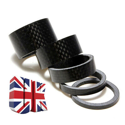 Carbon Fiber Bicycle Headset Spacer MTB Road Bike Front Stem Fork Washer UK • 2.69£
