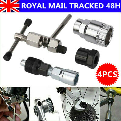 4 In 1 Mountain Bike Bicycle Tools Crank Chain Axis Extractor Removal Repair Kit • 9.83£