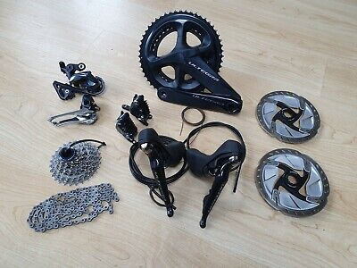 Shimano Ultegra R8020 + 8070 Hydraulic Disc Groupset 52/36 11/28 11 Speed Vgc • 549.99£
